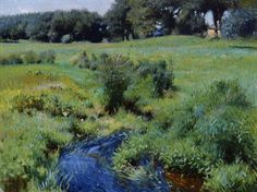 """The Pool, Medfield,"" 1889 Dennis Miller Bunker, oil on canvas, 18 1/2 x 24 1/4"", Museum of Fine Arts, Boston."