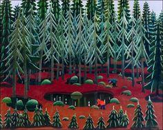 Karpaloitten poimijat, Pirkko Lepistö  Oil 1975
