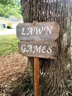 Lawn Games Sign, Yard Games Sign, Barn Wood Signs, Rustic Wood Signs,