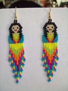 Mexican Fiesta Doll Turquoise Shirt Beaded Earrings Southwestern ...