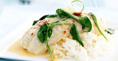 Add coconut for a unique twist on poached fish.