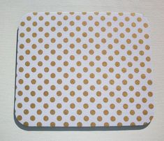 Mouse Pad mousepad / Mat round or rectangle Shiny gold by Laa766