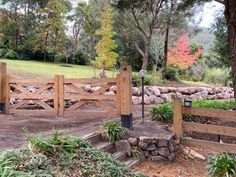 If you drive up to this gate, you will love the driveway beyond.  How lovely does this look.  And the Rock Walls will keep the driveway clear of erosion.  Perfect! Garden Bridge, The Rock, Beautiful Words, Gate, Walls, Outdoor Structures, Tone Words, Portal, Pretty Words