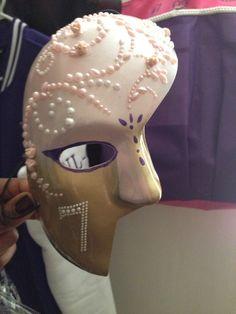 Kappa Epsilon Psi Mask  Great Rose Pink and Purple