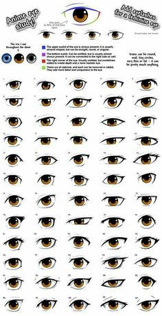 • All different Anime eyes•