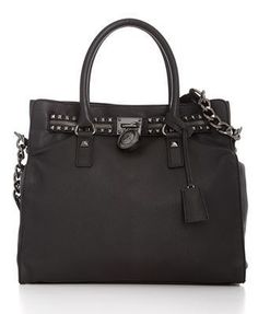 Michael Kors Hamilton Rock  Roll Tote- I died when I saw this in the catalogue and searched all over for it! Finally found it and so worth it. LOVE this bag with the gunmetal studs