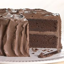Gluten-Free Chocolate Cake : King Arthur Flour.  Calls for a whole cup of cocoa - now that's chocolate cake!