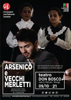"""Ecco la nuova #locandina di """"Arsenico e vecchi merletti""""!! Vi aspettiamo tra tre giorni presso il Teatro Don Bosco a #Rovigo!! Non mancate!!!"""