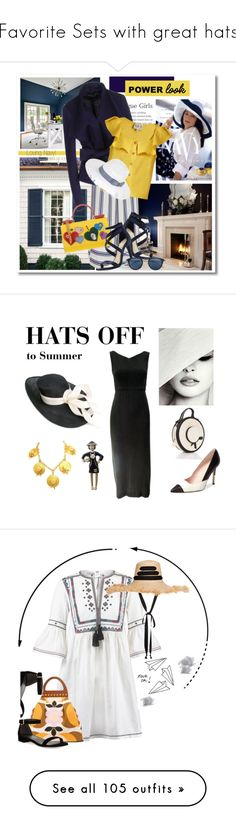 """Favorite Sets with great hats"" by deborah-518 ❤ liked on Polyvore featuring COVERGIRL, Benjamin Moore, Sacai, Donna Karan, Sea, New York, Dolce&Gabbana, Jessica Simpson, Issey Miyake, Scala and MyPowerLook"