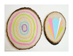 Paintings on Wood  Two Piece Collection  Boho by bonjourfrenchie, $100.00
