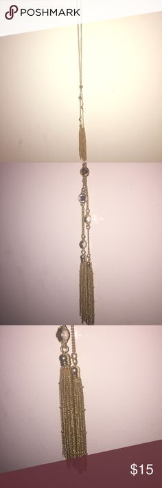 Long Gold Tassel Necklace New and Never worn. JustFab Jewelry Necklaces