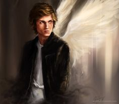 This beautiful piece of fan art as Jace Wayland/Morgenstern/Lightwood/Herondale because this is what he is actually supposed to look like. Sorry, Jamie Campbell Bower!