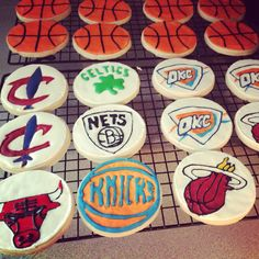 Package one basketball and one team name cookie together. Basketball Cookies, I Love Basketball, Homemade Sweets, Freshly Baked, Special Occasion, Jar, Candy, Decorating, Baking