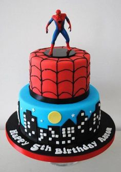 Spiderman birthday cake can be good choice. Here are some cute Spiderman Birthday Cake Ideas, Spiderman Birthday Cake, 5th Birthday Cake, Superhero Cake, Superhero Birthday Party, Birthday Cake For Men Easy, Birthday Cake Kids Boys, Spiderman Kids, Happy Birthday, Miss Cupcake