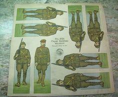 Vintage McLoughlin Bros WWI Paper Dolls Belgian Soldiers Belgium military   eBay