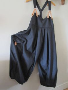 Lagenlook Balloon shaped dungarees .overalls by EnglishExcentrics