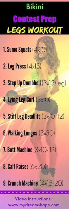 Bikini Contest Preparación Legs Workout - My Dream Shape!