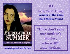 A Three-Turtle Summer, book trailer. (voice by author)