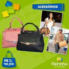Na temporada outono/inverno, são protagonistas as bolsas de couro! Não tem como errar para andar na moda e seguir as tendências! #bolsas #acessório #feirinhadaconcórdia #moda