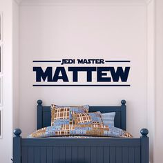 Personalized Star Wars Wall Decal Name Jedi by FabWallDecals