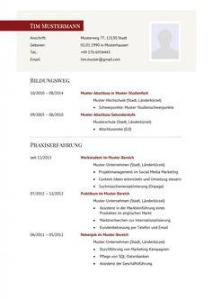download format of resume