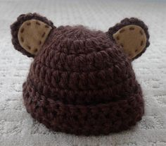 Newborn teddy hat pattern
