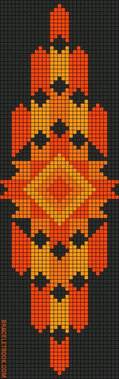 Mochila pattern Rotated Alpha Pattern added by CWillard Seed Bead Patterns, Peyote Patterns, Weaving Patterns, Cross Stitch Patterns, Cross Stitch Bookmarks, Cross Stitch Embroidery, Cross Stitching, Mochila Crochet, Motifs Perler