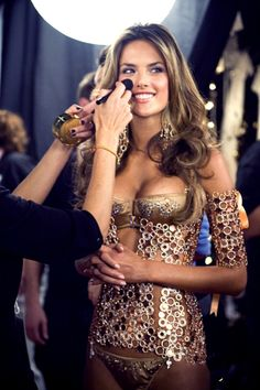 Alessandra Ambrosio backstage#Repin By:Pinterest++ for iPad#