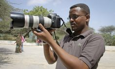 Mohamed Mohamud from Somalia - one of the 70 journalist killed around the world in 2013. Photograph: Farah Abdi Warsameh/AP