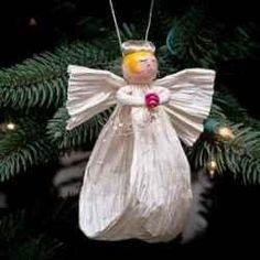 Paper twist Angel. We made something like this many years ago!
