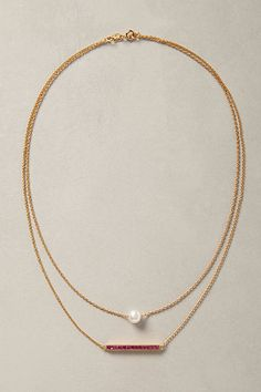 Perched Pearl Necklace #anthropologie