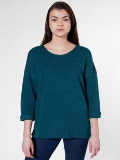 Dark teal Reversible Easy Sweater   Pullovers   Women's Sweaters   American Apparel