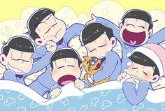 おそ松さん Osomatsu-san「おやすみ六つ子」/「郁爾」のイラスト [pixiv]