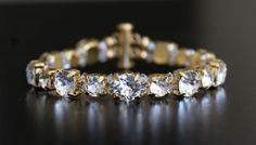 Swarovski crystal bracelet in gold plated settings by Mosquita www.mosquita.com.au