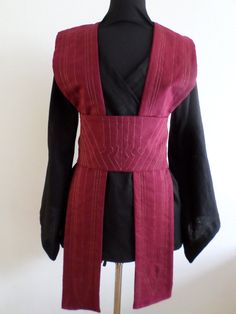 MADE TO order from august linen Star Wars inspired Jedi tunic with decorative stitches costume cosplay larp pagan pixie SF Jedi Tunic, Jedi Robe, Jedi Cosplay, Jedi Costume, Star Wars Sith, Costume Stitch, Jedi Outfit, Star Wars Outfits, Star Wars Costumes