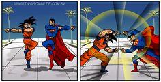 Goku y Superman.