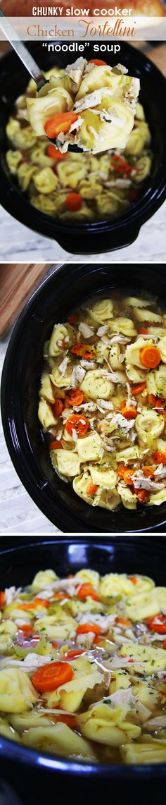 "SO MUCH TASTIER WITH TORTELLINI!  The best chicken ""noodle"" soup ever- and the easiest! 