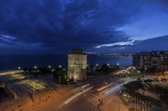 Thessaloniki, Greece (by Alex Athanasiadis) Travel Around The World, Around The Worlds, Cultural Capital, Best Places To Travel, Macedonia, Ancient Greek, Tower Bridge, Empire State Building, Explore