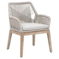 Shop the Lorry Modern Classic Light Grey Woven Natural Grey Mahogany Armchair - Set of 2 and other Dining Room Chairs at Kathy Kuo Home Classic Home Decor, Classic House, Modern Classic, Plywood Furniture, Dining Furniture, Dining Room Chairs, Side Chairs, Woven Dining Chairs, Rattan Chairs