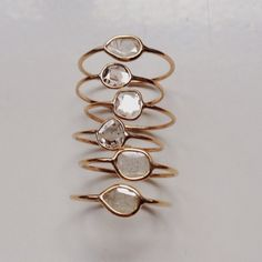 VALE JEWELRY | #diamondslice #rings #14k gold #diamonds...
