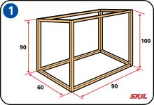 Building a rabbit hutch - Building the frame Mini Lop, Bunny Hutch, Rabbit Run, Rabbit Hutches, Step By Step Instructions, Cool Stuff, Building, Handy Tips, Wood Work