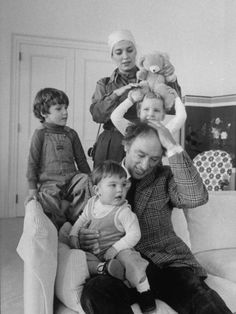Prime Minister Pierre Trudeau with his boys and Margaret