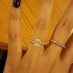 Oval Pave Lab Diamond Ring