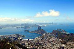 Rio from the top of Corcovado mountain