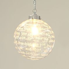 Ellie Etched Glass Pendant | PBteen. 120. for entry.