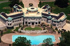 """Evander """"Real Deal"""" Holyfield, the former heavyweight boxing champ, foreclosed on his Fayette County, Georgia home in Big Mansions, Mansions Homes, Celebrity Mansions, Celebrity Houses, Beverly Hills Mansion, Dream Mansion, Rich Home, Expensive Houses, Big Houses"""