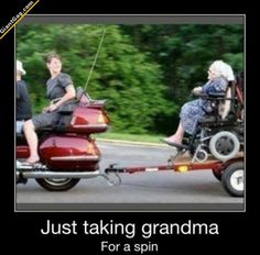 Taking Granma For A ... | Click the link to view full image and description : )