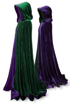 Emerald and Purple Velvet Cape.  Would the Sanderson Sisters wear anything less? Hocus Pocus Halloween Party Decorations & Ideas