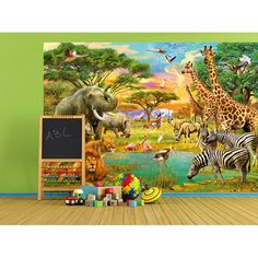 00154 African Animals – Wall Mural 366 x 254 cm