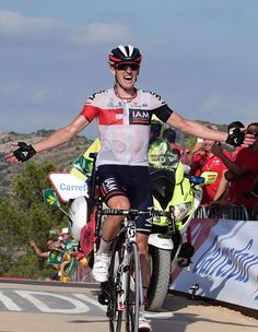 Mathias Frank wins stage 17 at the Vuelta a Espana 2016 Getty Images